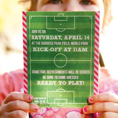 festa futebol para menina