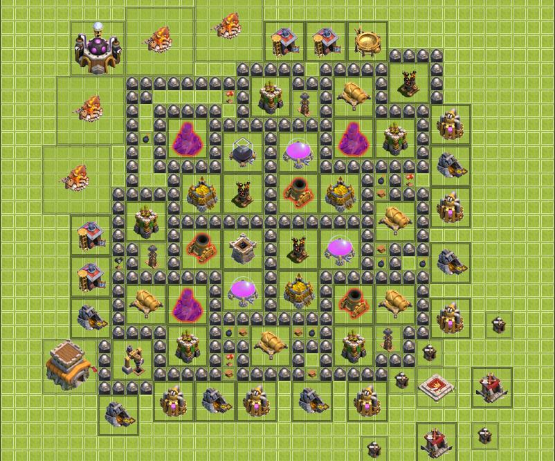 Best farming base townhall 8 best trophy base copy my war base