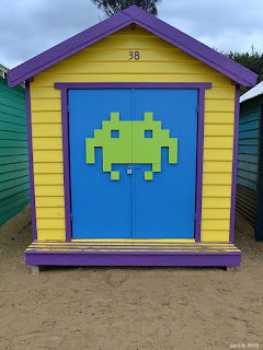 beach hut thirty eight space invader