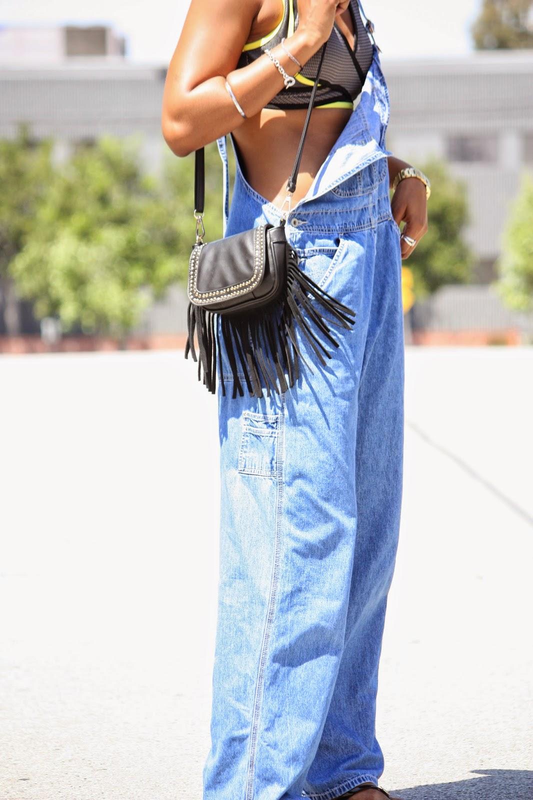 Marshalls leather fringe bag