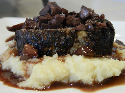 Primal Bites: Mushroom Crusted Meatloaf with Red Wine Reduction ...