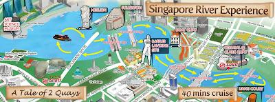 bumboaut, perjalanan sungai, menelusuri sungai singapore, naik perahu, tempat wisata di singapore, jalan jalan di singapore, singapura,