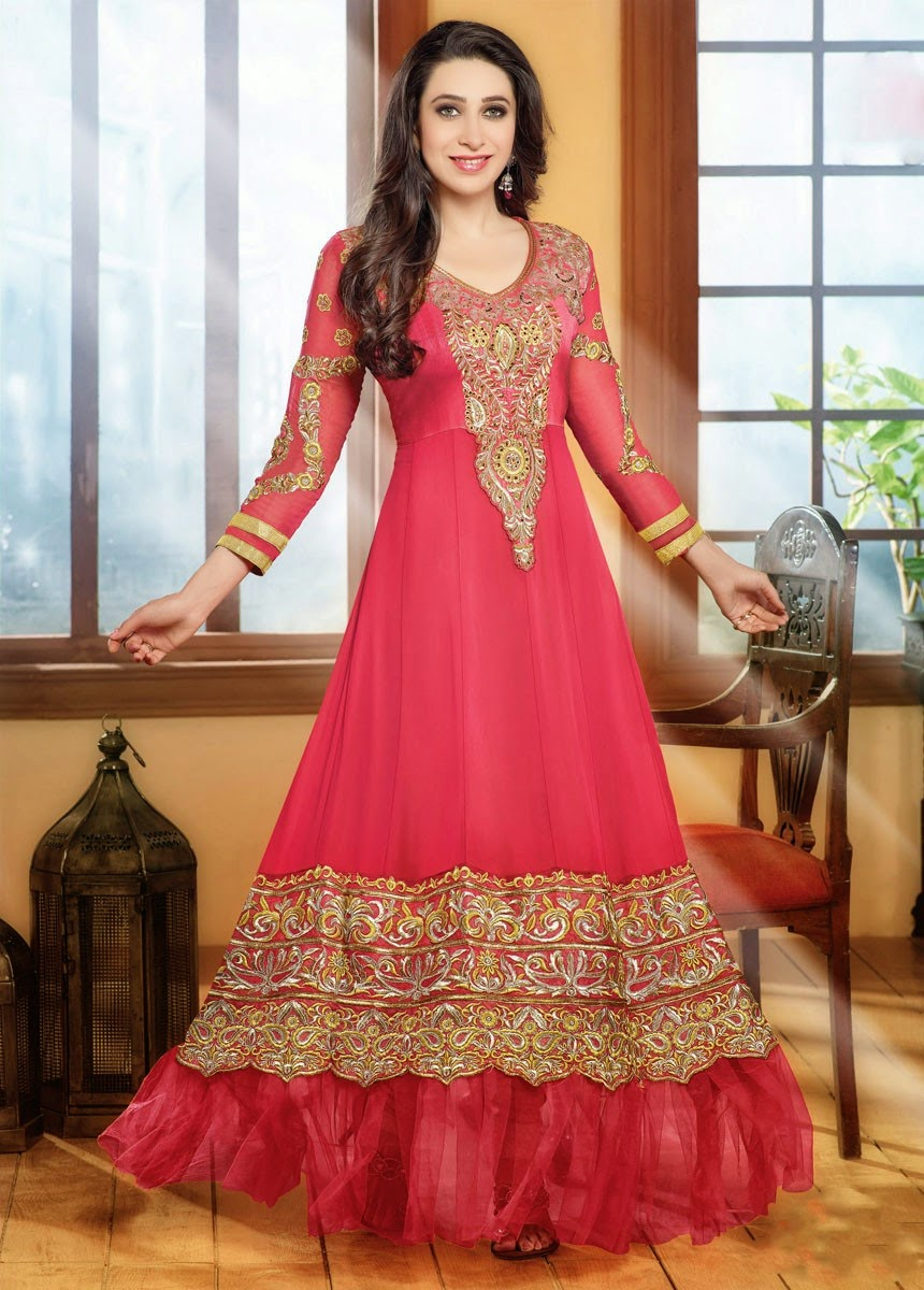 Stand Collar Neck Designs For Salwar Kameez : Fashion style wear trendy party salwar suits with