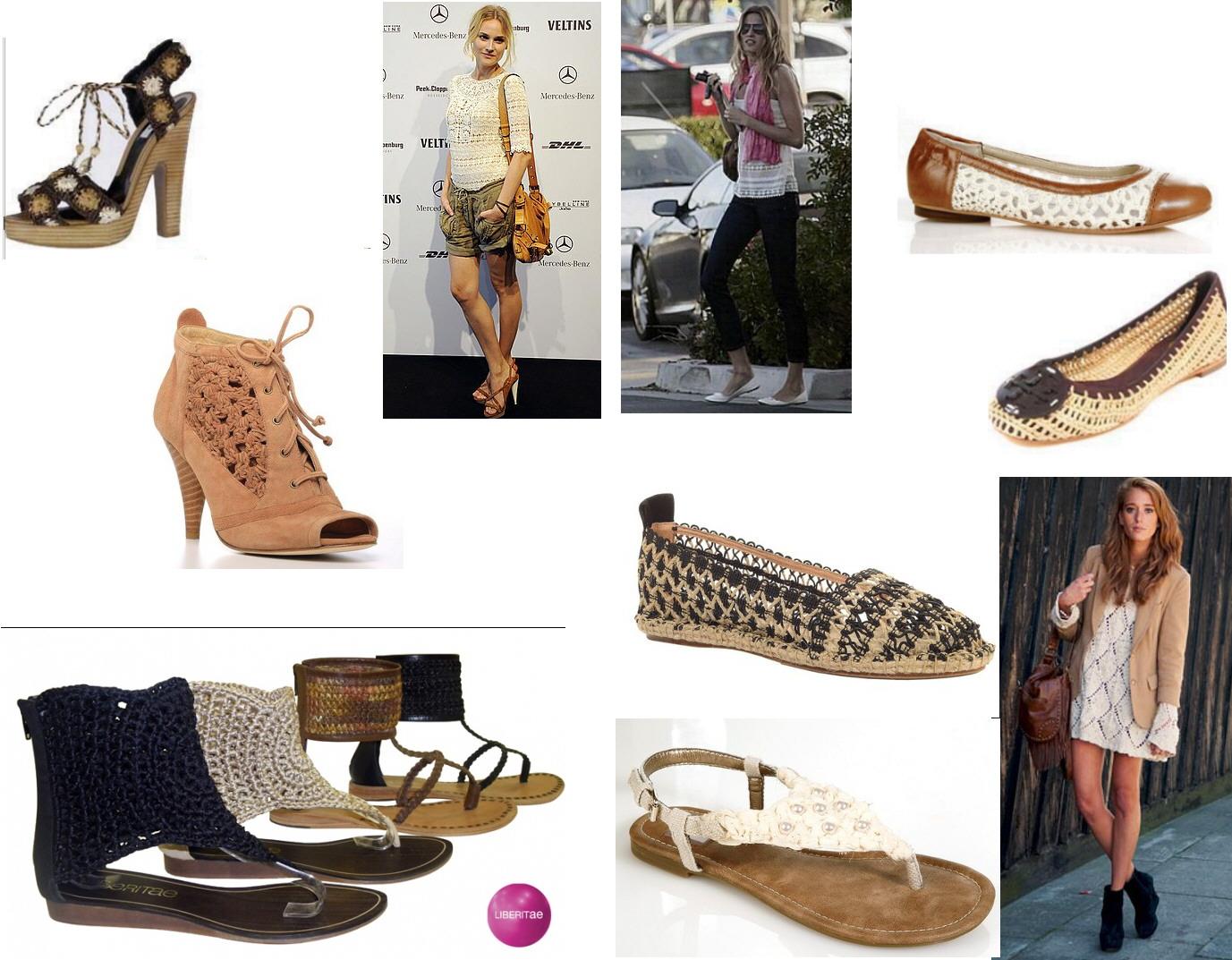 Crocheting Vs Macrame : en c o l o r e s , como las de Bimba y Lola con su generoso tacon y ...