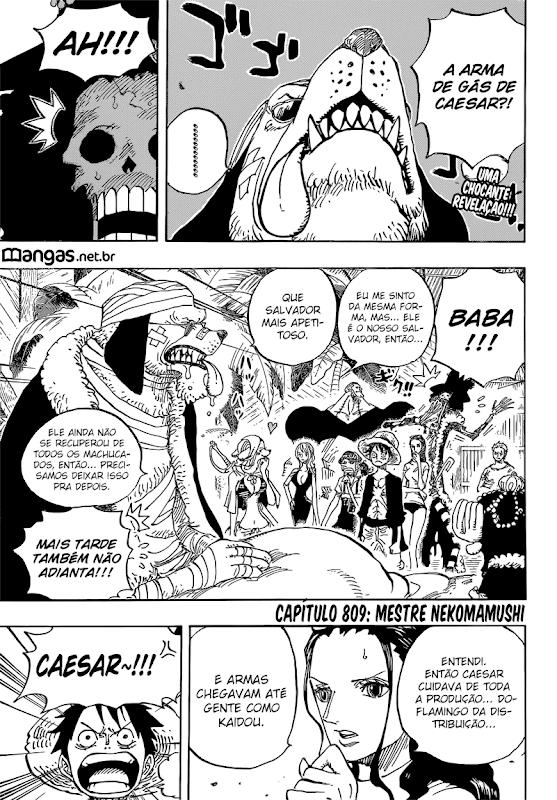 One Piece Mangá 809, Mangá One Piece 809, One Piece Capítulo 809, One piece 809, One 809, Piece 809, One Piece Cap 809,Todos os Mangás, ler, português, traduzido, legendados