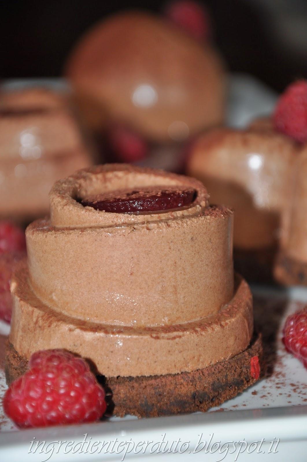 Mousse cioccolato zenzero e lampone-ingrediente perduto