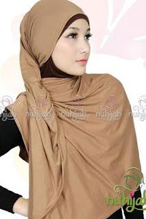 Model Hijab berbahan kaos
