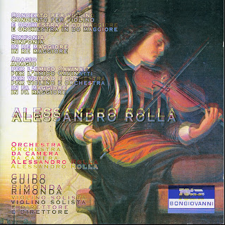 Rolla: Violin Concerto in C Major - Adagio per l'amico Cavinatti - Sinfonia in D Major