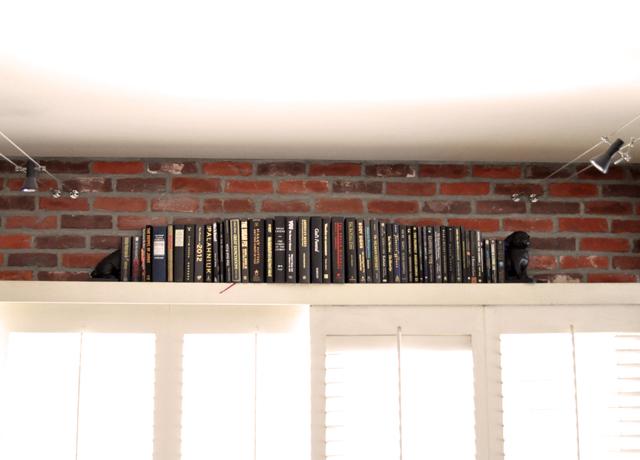 black bound books, pug book ends