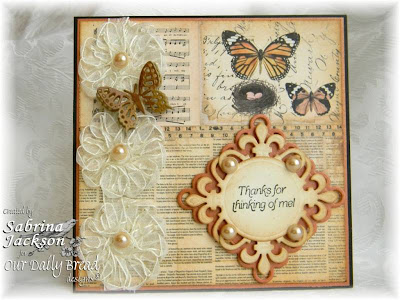 "Our Daily Bread designs ""Thank You Sentiments"" Designer Sabrina Jackson"