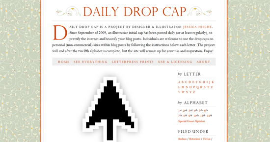 Daily drop Cap