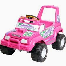 Jeep infantil Nevada Pick-Up Elétrico rosa
