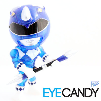 "San Diego Comic-Con 2015 Exclusive Mighty Morphin Power Rangers ""Crystal Edition"" Blue Ranger Mini Figure by The Loyal Subjects"