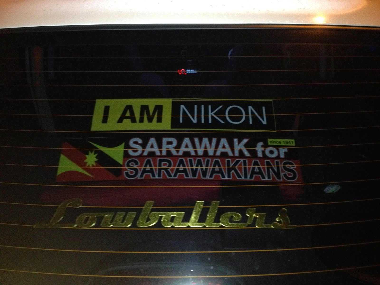 Car sticker design kuching - We Support Our Country Sarawak
