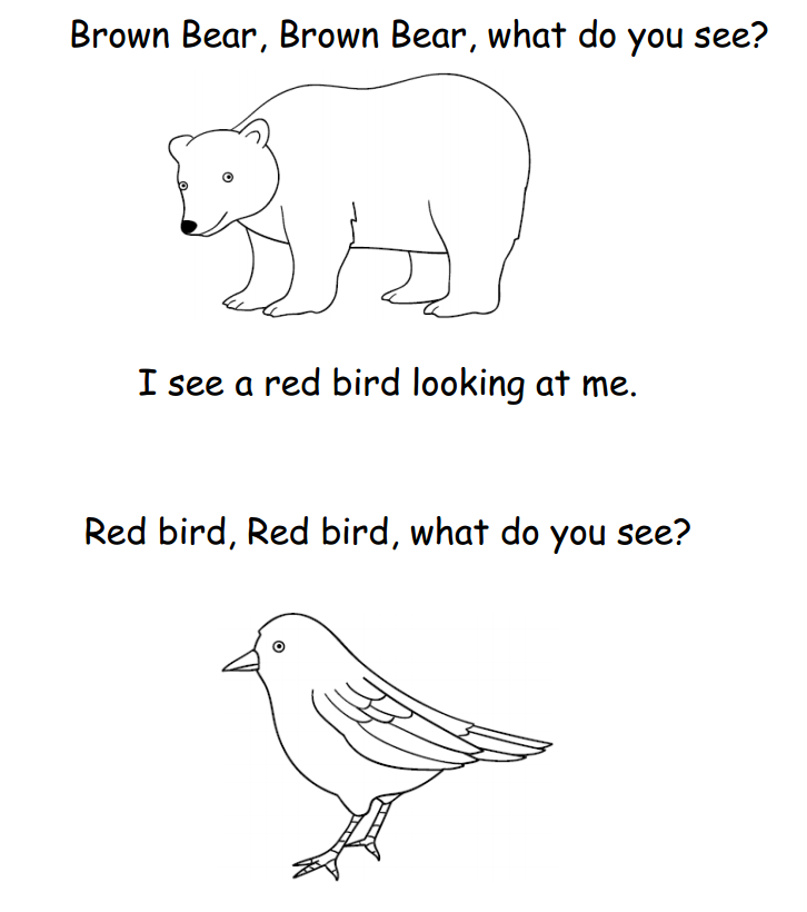 for Brown bear what do you see coloring pages