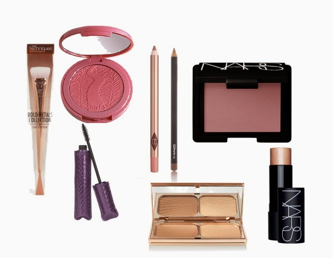 January beauty wishlist, tarte, real techniques bold collection, charlotte tilbury, nars, mac