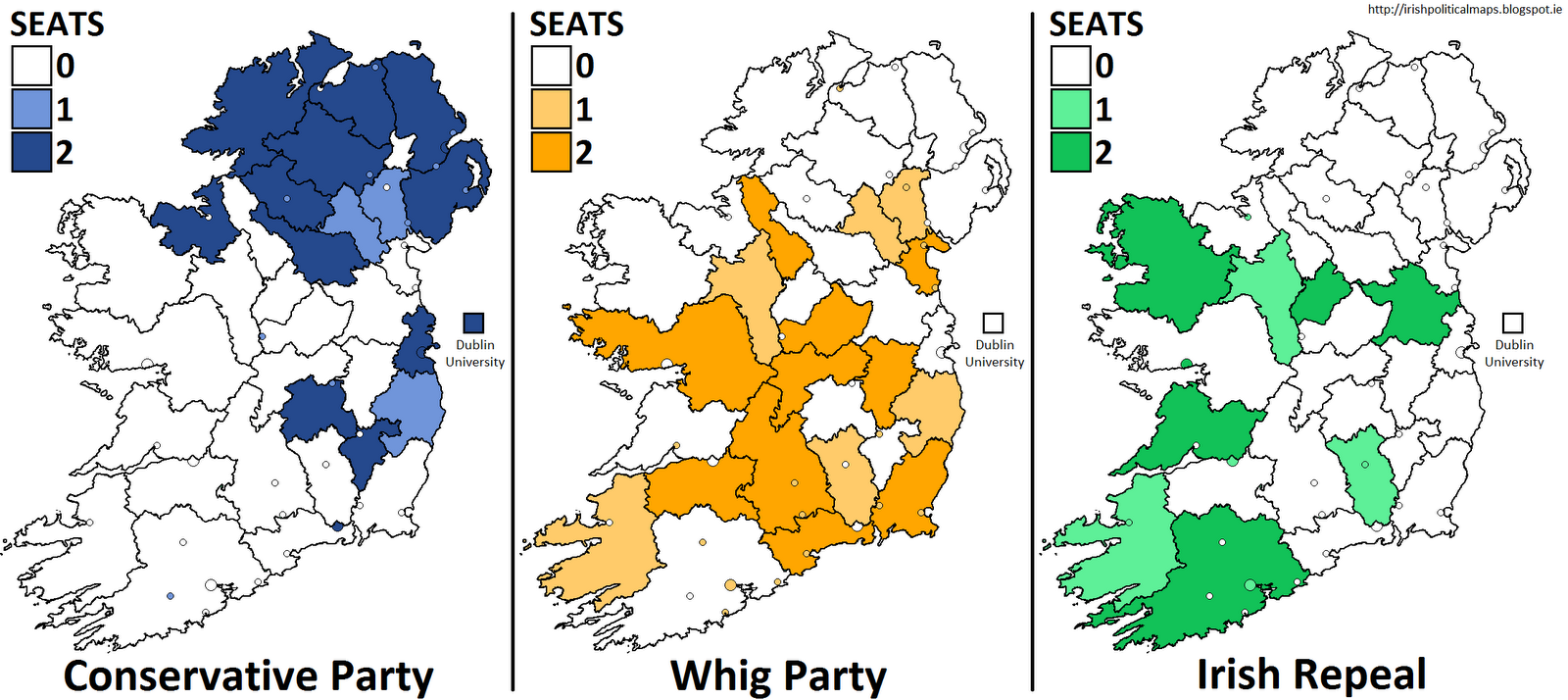in 1837 the irish repeal association had made the decision to align with the whig party when running candidates for election