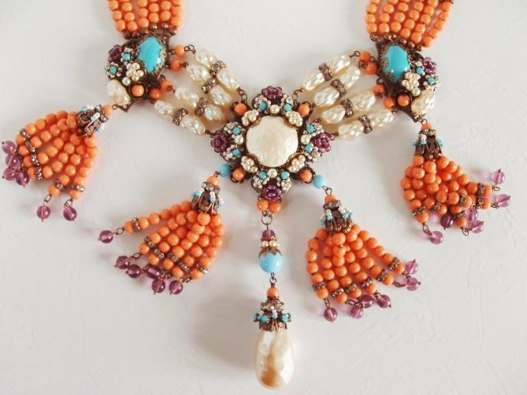Perles ancienne de verre collier Halskette alt perlen