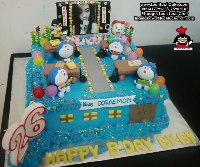 Kue Tart Doraemon Tema Kelas Daerah Surabaya - Sidoarjo