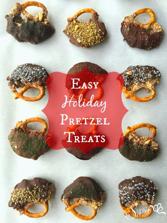 Easy Holiday Chocolate and Caramel Pretzels - Sypsie Designs