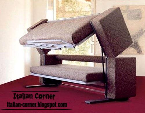 Modern italian sofa bed design brown sofa bed for Italian sofa bed designs