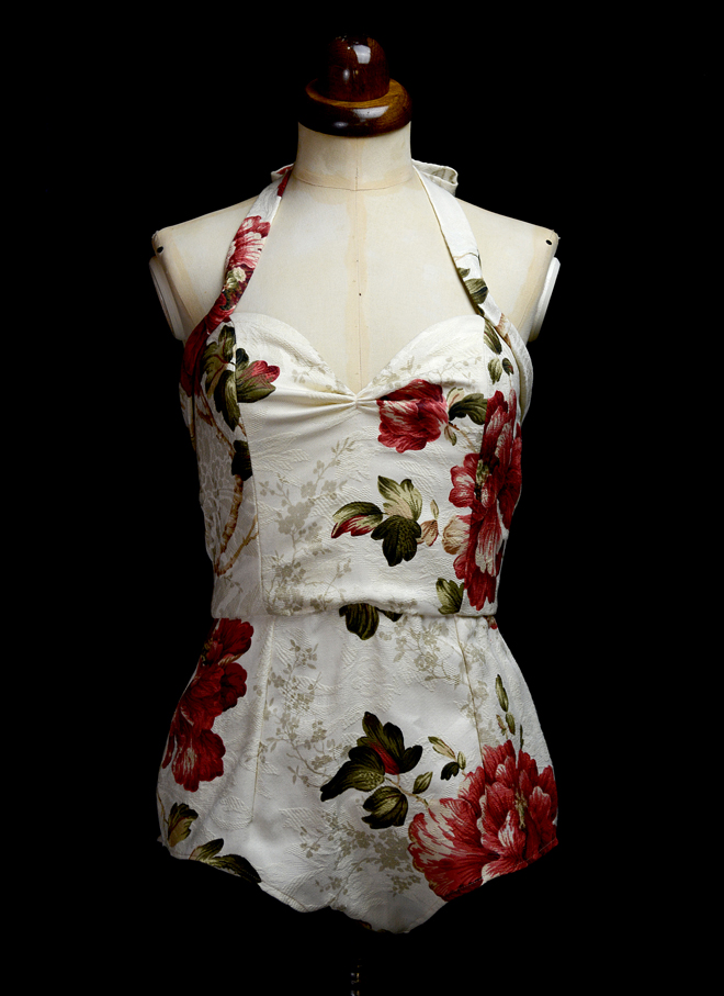 Janey Floral Pin-up Playsuit by Alexandra King