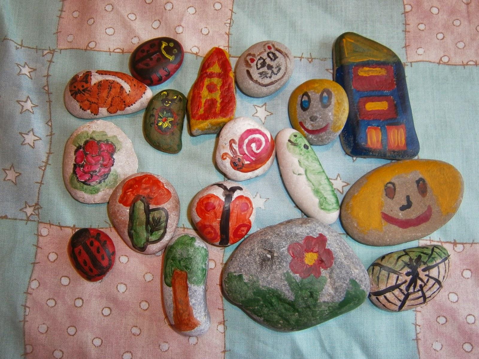 детские поделки камни