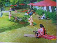 パンフから5月第4日曜日「曲水の宴」が行われる。