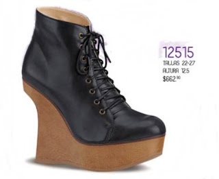 zapato taco curva de andrea 662