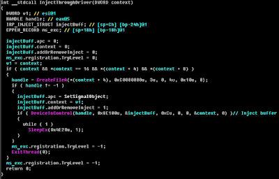 デコンパイルしたコード:ESETセキュリティブログ
