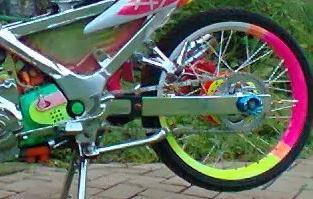 modifikasi velg motor unik