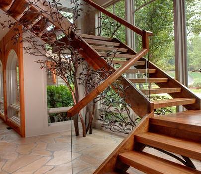 Fotos de escaleras pasamanos de madera para escaleras - Escaleras de cristal y madera ...