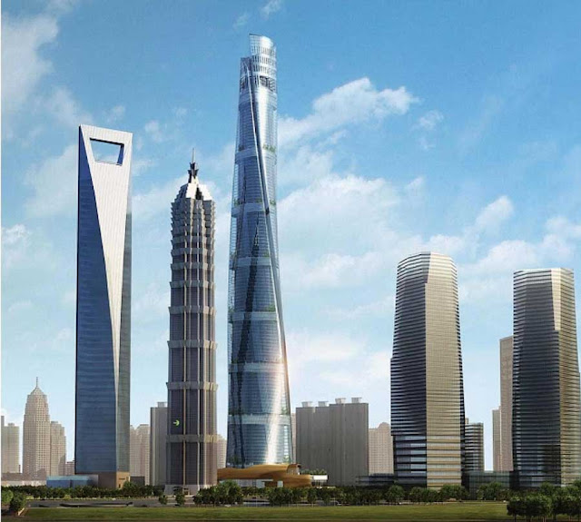 Rendering of the Shanghai Tower