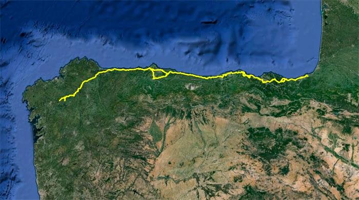 Camino del Norte. Ruta del Camino de Santiago por el norte de España.