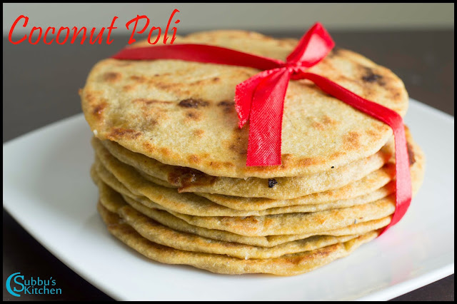 Coconut Poli Recipe | Thengai Purana Poli Recipe | Wheat Flour Poli Recipe