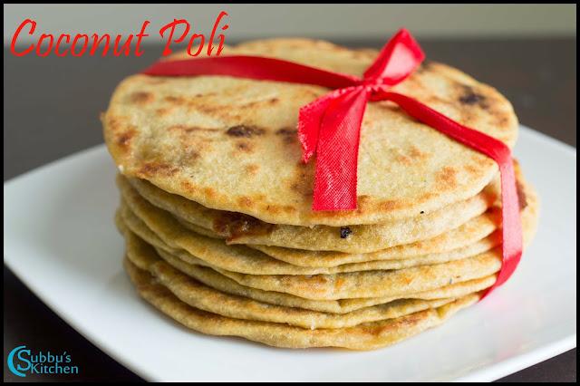Coconut Poli Recipe   Thengai Purana Poli Recipe   Wheat Flour Poli Recipe