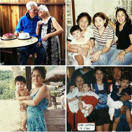 Andre and Kobe Paras with mother and grandparents