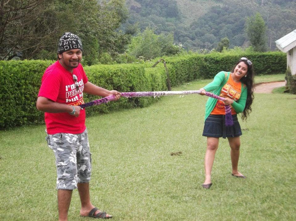 madhu nithyani with husband