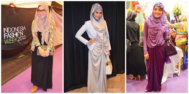 Gaya Hijab Casual dan Keren di IFW Indonesia Fashion Week 2013