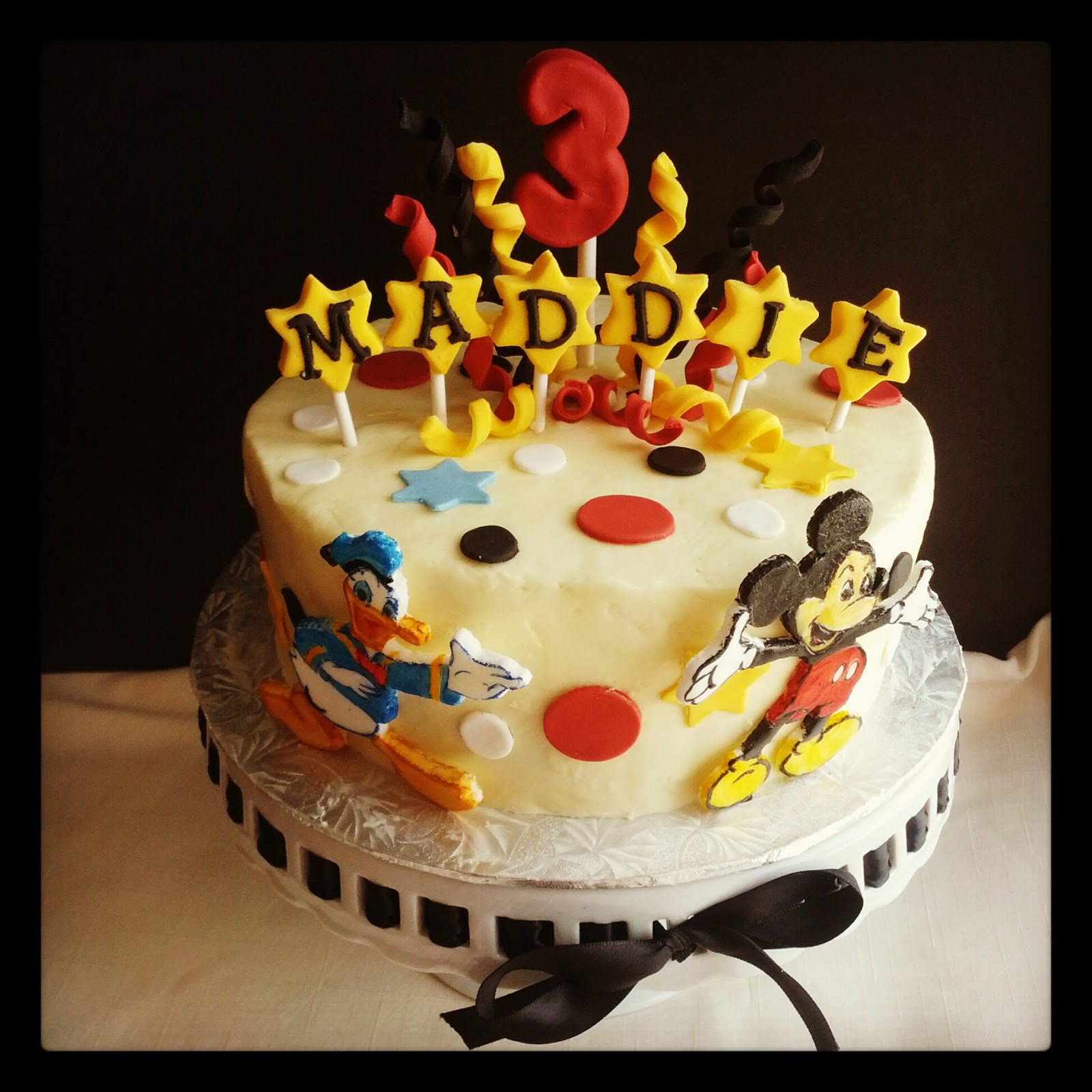 Second Generation Cake Design Mickey Mouse Donald Duck Birthday Cake