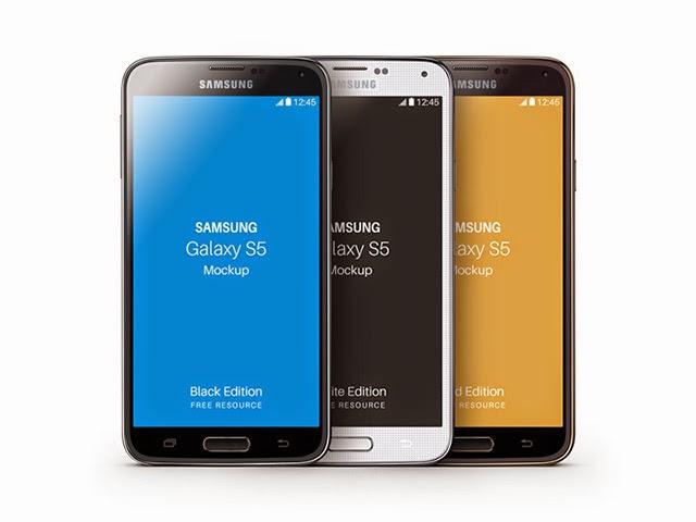 Samsung Galaxy S5 PSD Mockup Free