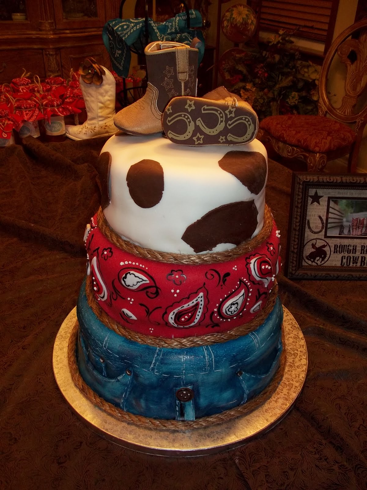 100+ [ Cowboy Baby Shower Cake ] Photo Cowboy Baby ...