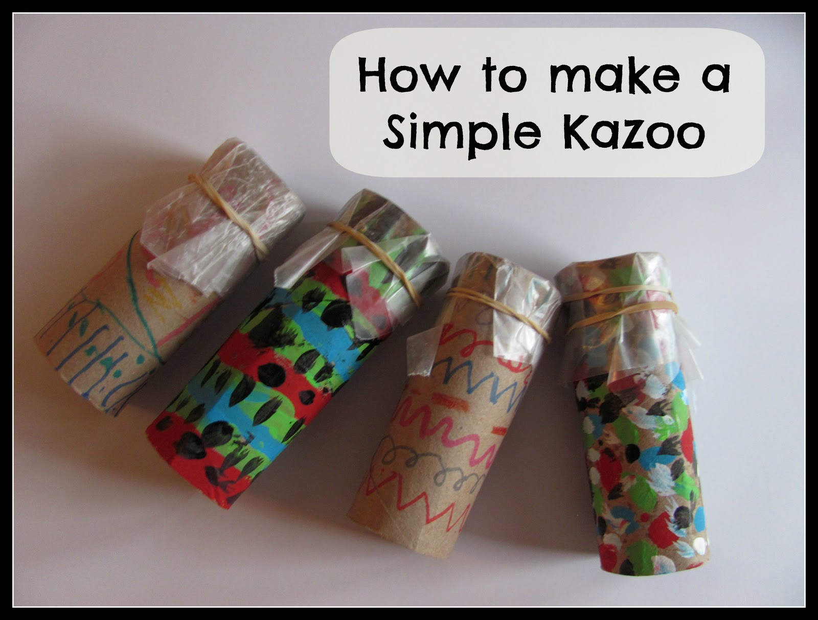 The chocolate muffin tree how to make a simple kazoo for Homemade recycled products