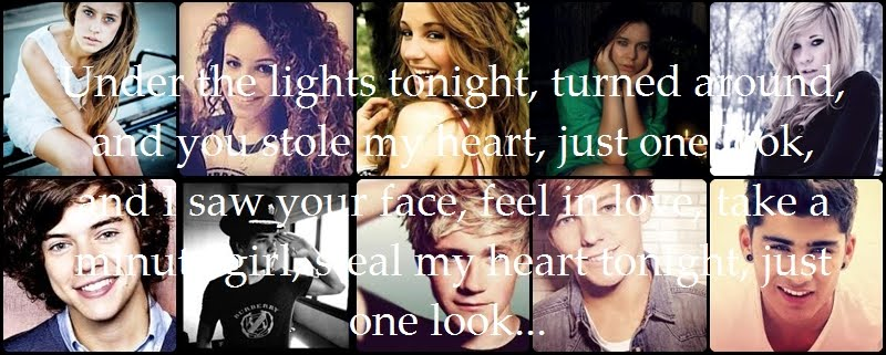 Under the lights tonight, turned around, and you stole my heart . ♥