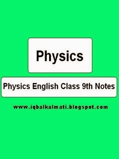 Physics Class 9th Class Notes English Medium