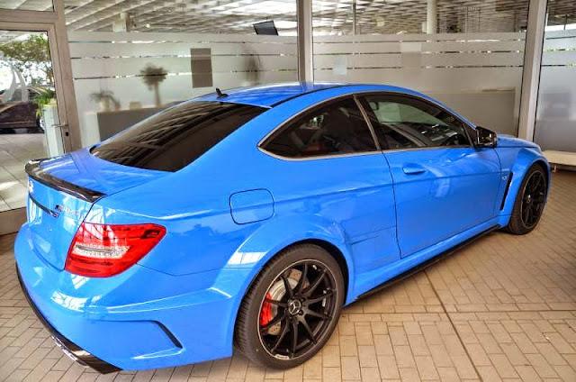 mercedes c 63 blue