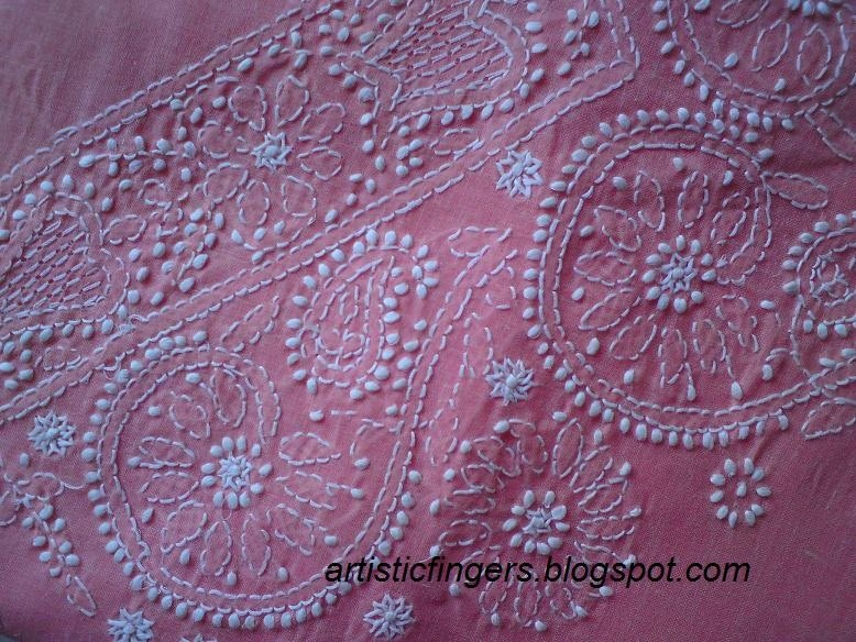 Artisticfingers chikankari or chikan embroidery