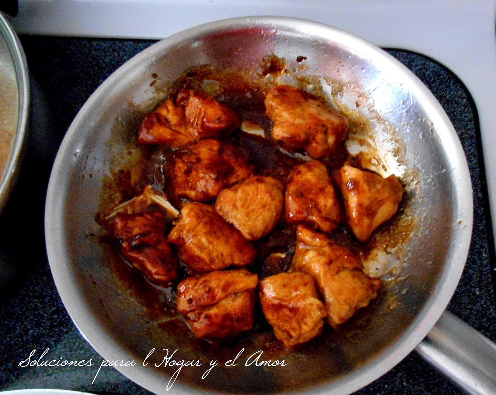 Receta de pollo agridulce sencilla, rápida receta de pollo agridulce con pocos ingredientes
