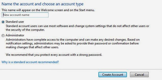 Cara menambah User Account pada windows 7