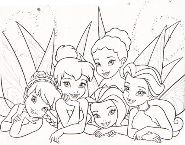 Dibujos de las hadas de Disney para colorear  Imagui